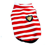 Dog Shirt / T-Shirt / Clothes/Clothing Red / Black Summer Stripe