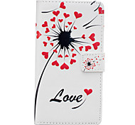 Color Dandelion Pattern PU Leather Material Phone Case for Huawei Ascend P9 Lite/ P9