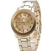 Men's Geneva Three Eye Stainless Steel With Quartz Watch Wrist Watch Cool Watch Unique Watch
