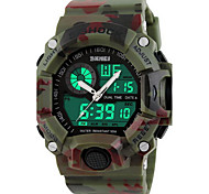 Men's Military Camouflage Analog-Digital Double Time Waterproof Sports Watch Cool Watch Unique Watch
