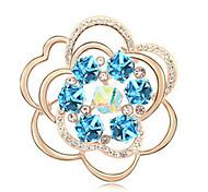 alta qualidade broche de flor de cristal para a senhora festa de casamento
