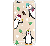 For Case Cover Transparent Pattern Back Cover Case Cartoon Soft TPU for Apple iPhone 6s Plus iPhone 6 Plus iPhone 6s iPhone 6