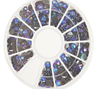 1pcs 4mm Round Bowl Nail Art Black Flat Rhinestones Nail Art DIY Decoration NC307