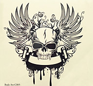 1pc Halloween Tattoo Paste Color Tattoo Stickers A Larger Version Waterproof