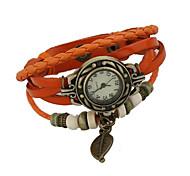Damen Modeuhr digital Leder Band Schwarz / Weiß / Blau / Rot / Orange / Braun / Grün Marke-