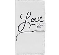 LOVE Pattern PU Leather Material Phone Case for Huawei Ascend P9 Lite/ P9