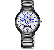 Men's Wrist watch Calendar Water Resistant / Water Proof Casual Watch Quartz Stainless Steel Band Black