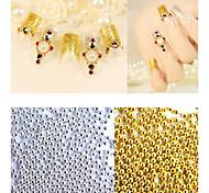 50g/pack New Gold Silver Metal Caviar Beads 3d Nail Art Decorations DIY