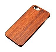 Back Cover Ultra-thin / Other Wooden Wooden Hard for iPhone SE/5s/5