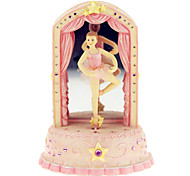 ABS Pink Creative Romantic Music Box for Gift