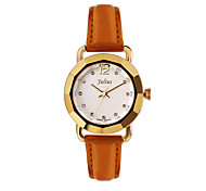 Julius Fashion Vintage Special Design Women Watch Leather Belt Schoolgirl Quartz Wristwatch JA-801