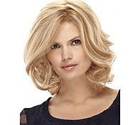 12 inch Women Short Straight Synthetic Hair Wig Blonde with Free Hair Net