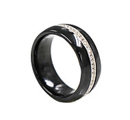 Ringe,Eheringe,Schmuck Sterling Silber Modisch Hochzeit / Party / Alltag / Normal Schwarz / Weiß 1 Stück,6 / 7 / 8 Unsex
