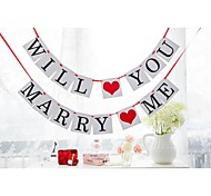Will You Marry Me Wedding Proposal Engagement Party Banner Sign Flags