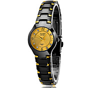 Women's Fashion Watch Water Resistant / Water Proof Casual Watch Quartz Stainless Steel Band Luxury Black