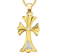 High Quality Fashion Cross Pendants Women/Men 18K Gold Plated Charm Jewelry Gift Necklaces Pendants P30097