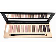 12 Paleta de Sombras de Ojos Seco Paleta de sombra de ojos Polvo NormalMaquillaje de Diario / Maquillaje de Halloween / Maquillaje de