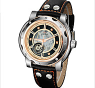 FORSINING® Men's Automatic Mechanical Elegant Dial Leather Band Wrist Watch