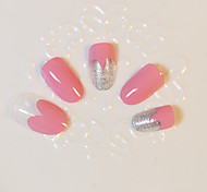 1set  Pink Love Artificial False Nail Tips