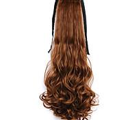 коричневая вода волна длинные вьющиеся волосы парик стиль хвостики конский хвост повязка