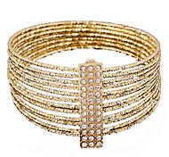 Bracelet Bracelets de rive Alliage / Strass Soirée / Quotidien Bijoux Cadeau Doré,1pc