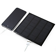 3W 5V USB Output Monocrystalline Silicon Solar Panel for DIY