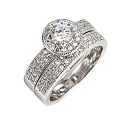 Fashionable 18k gold plated party wedding ring 4 color