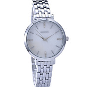 Women's Stainless Steel Diamond Quartz Watch