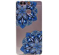 TPU Material Diagonal Flower Pattern Slim Phone Case for Huawei P9 Lite/P9