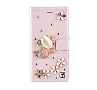 Para Capinha iPhone 7 / Capinha iPhone 7 Plus / Capinha iPhone 6 / Capinha iPhone 6 Plus / Capinha iPhone 5Carteira / Com Strass / Com