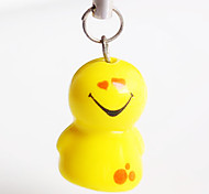 Lovely smile ceramic mobile phone chain(Random pattern)