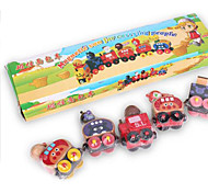 Little Train Puppet Toys, Magnetic Bread Shape Cognition Model Toys, Drag the Children's Toy Car