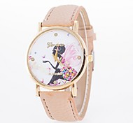 Ladies' Casual Watch Printed Butterfly Elf Dial Ladies Quartz Watch Strap