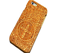 Back Cover Ultra-thin / Other Other Wooden Hard CrossCase Cover ForApple iPhone SE/5s/5