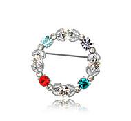 высокое качество кристалл круг брошь для свадьбы партии леди