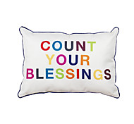 Polyester Pillow With Insert,Quotes & Sayings Casual 12x20 inch