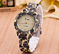 European Style Fashion Printing Flower Imitation Ceramic Geneva Wrist Watch