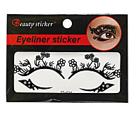 Abstract Fashion Lace Hollow Black Face Sticker YT-024