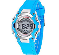 Kids' Sport Watch Wrist watch Digital LCD Calendar Chronograph Water Resistant / Water Proof Alarm Luminous Rubber Band Blue Brand SYNOKE