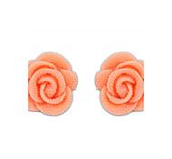 Han edition lovely lady rose flowers stud earrings