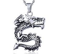 Men's Fashion Punk Style Dragon Titanium Pendant for Necklace