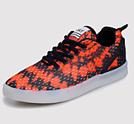 Men's Led lighting Sport Shoes Outdoor / Office & Career / Athletic PU Fashion Sneakers Red / Gray