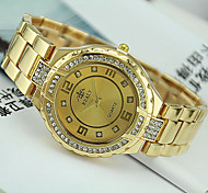 Unisex European Style Fashion Steel Quartz Shiny Rhinestones Wrist Watch
