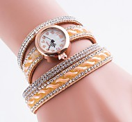 Ladies' Casual Watch White Plate With Diamond Bracelet Watch Bohemian Retro Bracelet Watch Quartz Watch