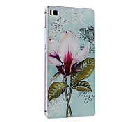 Metal Frame Protective Shell Hard  Painting for HUAWEI P8 (Pink Box + Classical Beauty)