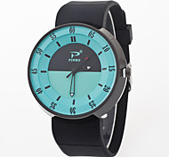 Women's Fashion Watch Quartz Silicone Band Black White