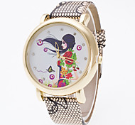Women's European Style Fashion Fresh Flower Girls Rhinestone Wrist Watch