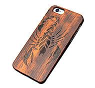 caso ultra sottile scorpione di legno protettiva copertura posteriore dura iphone PC per il iPhone SE / 5s iphone / iphone 5