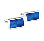 Men's Fashion Blue Face Alloy French Shirt Cufflinks (1-Pair)