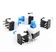 8 x 8 mm de auto-bloqueo del interruptor - azul + blanco + negro (5 piezas pack)